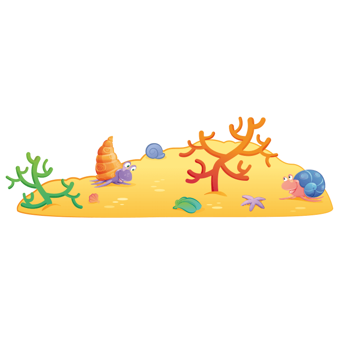 A Dip In The Sea Wall Stickers For Children Ocean Floor Sticker