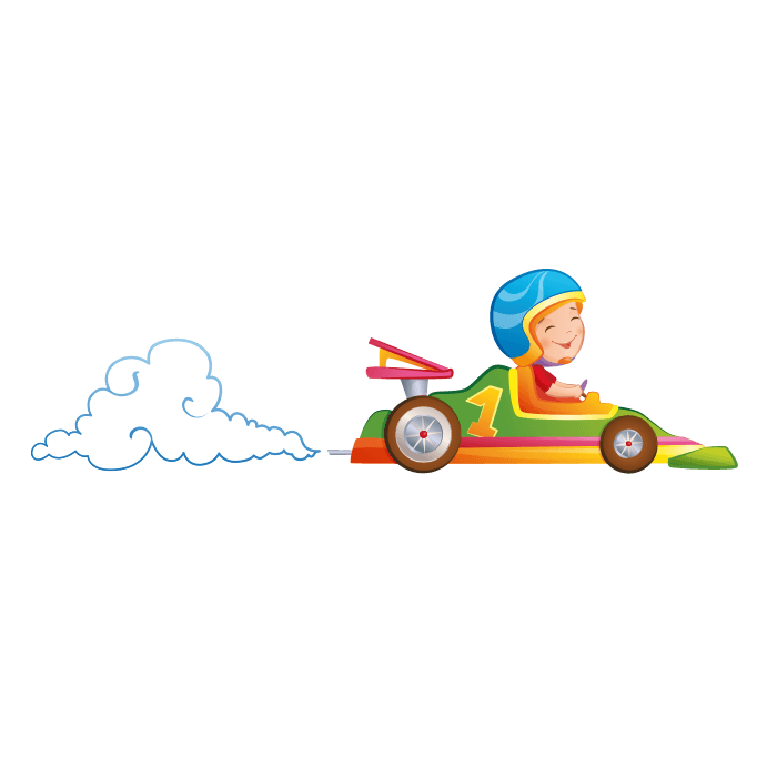 Behind the Wheel Wall Decals for Kids, Formula 1 Sticker