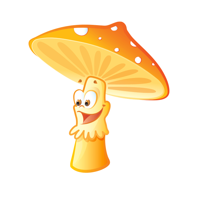 Fairies and Elves Wallstickers for Children, Baby Mushroom Sticker