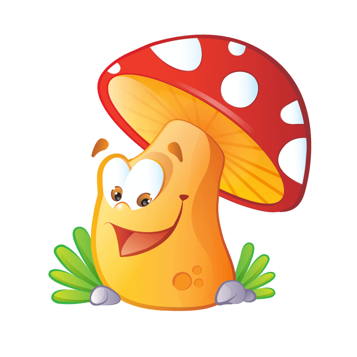 Fairies and Elves Wall Decors for Children Bedroom, Big Mushroom Sticker