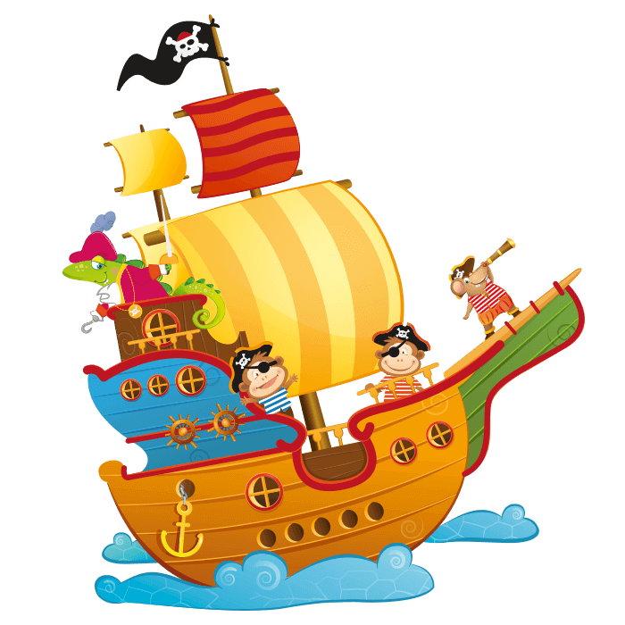 The Pirates Galleon Wall Decals for Kids, Pirates Galleon Sticker