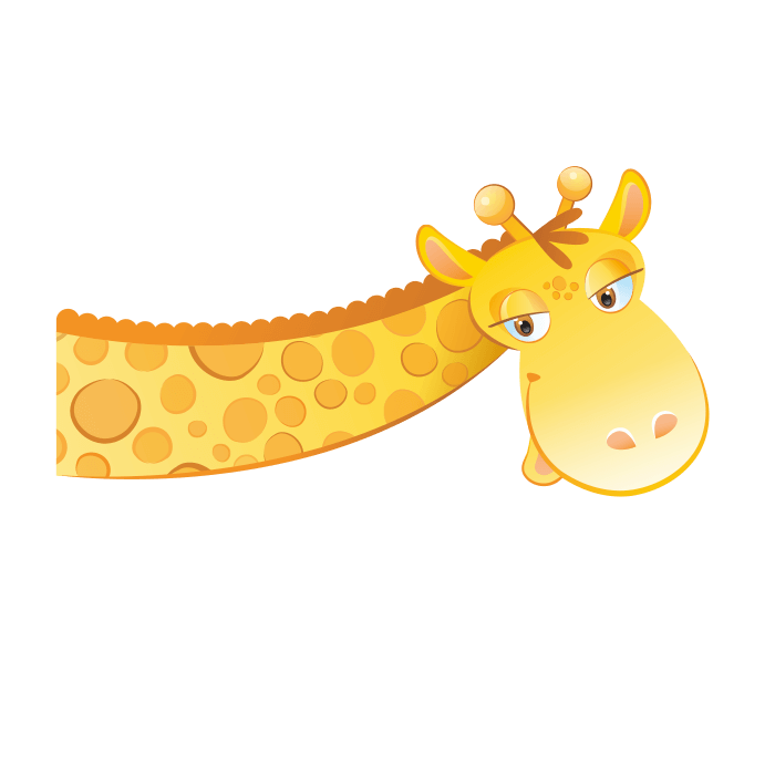 Curious Giraffe, Wall Decor for Kids Rooms