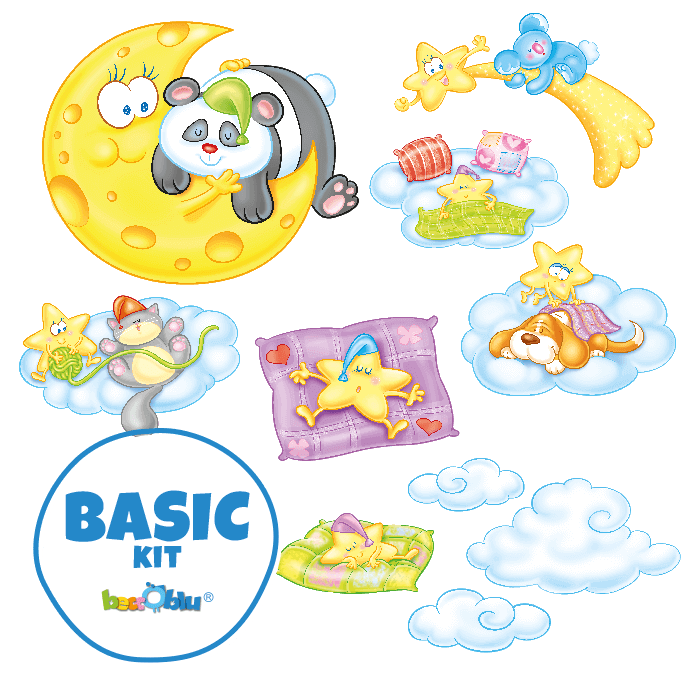 Wall Decors for Children Basic Kit Sleepy Friends