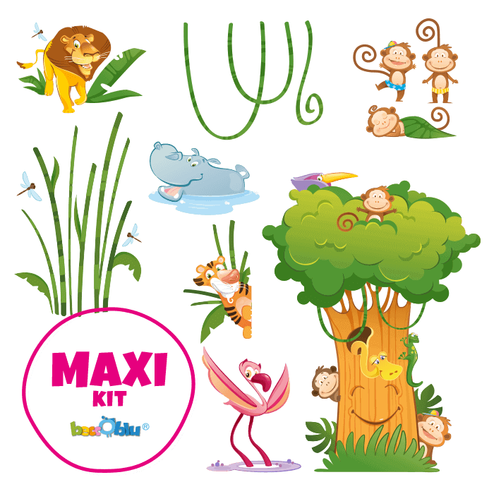 Wall Stickers for Kids Maxi Kit the Great Jungle