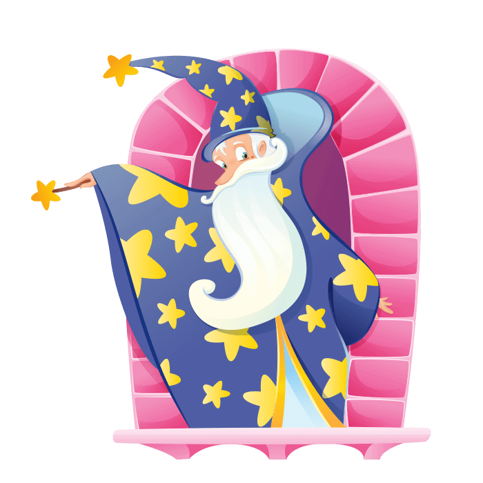Wizards and Princesses Wallstickers for Kids, Great Magician Sticker