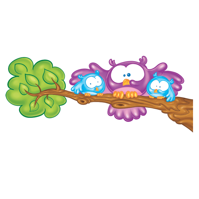 In the Meadow Wall Decors for Children, the Little Owls Sticker
