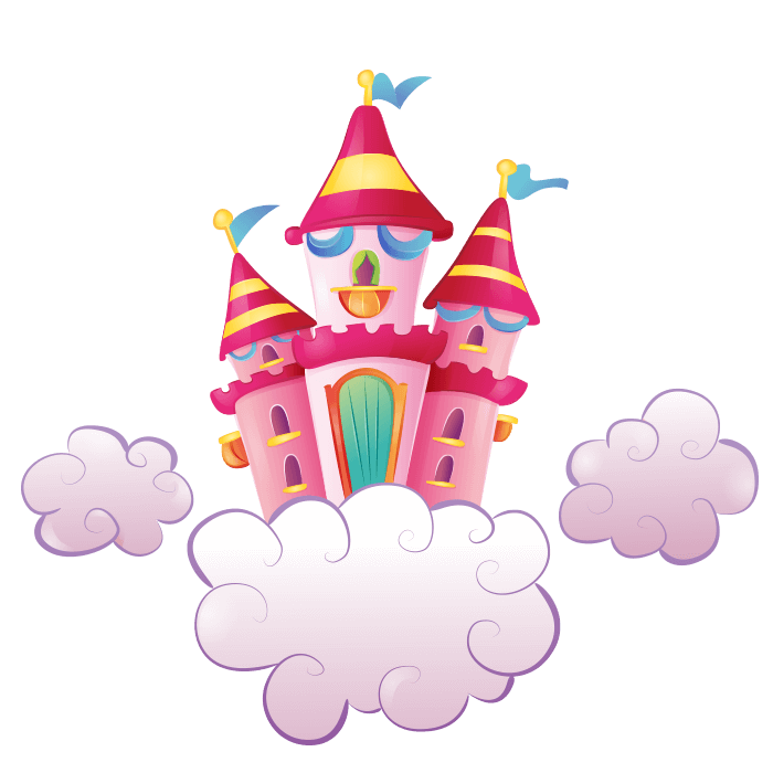 The Magical Unicorns Wallstickers for Kids, The Flying Castle Sticker