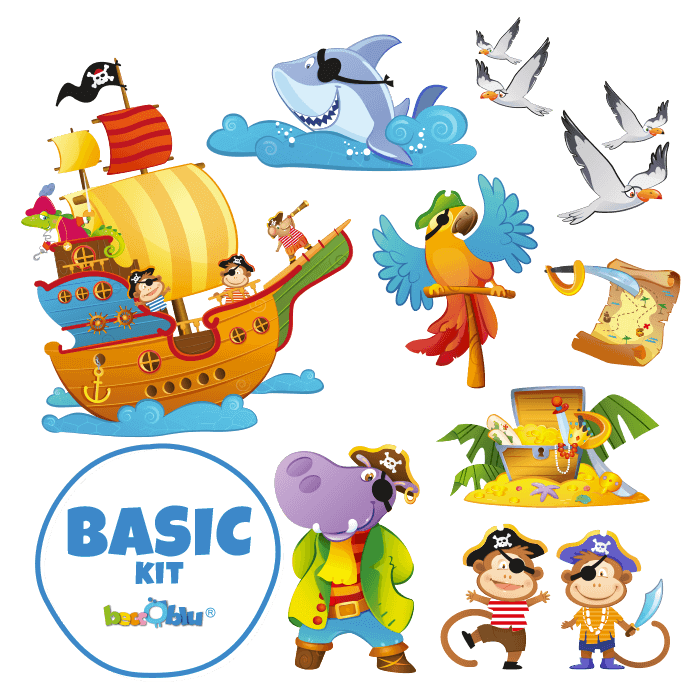 Wall Decors for Children Basic Kit The Pirates Galleon