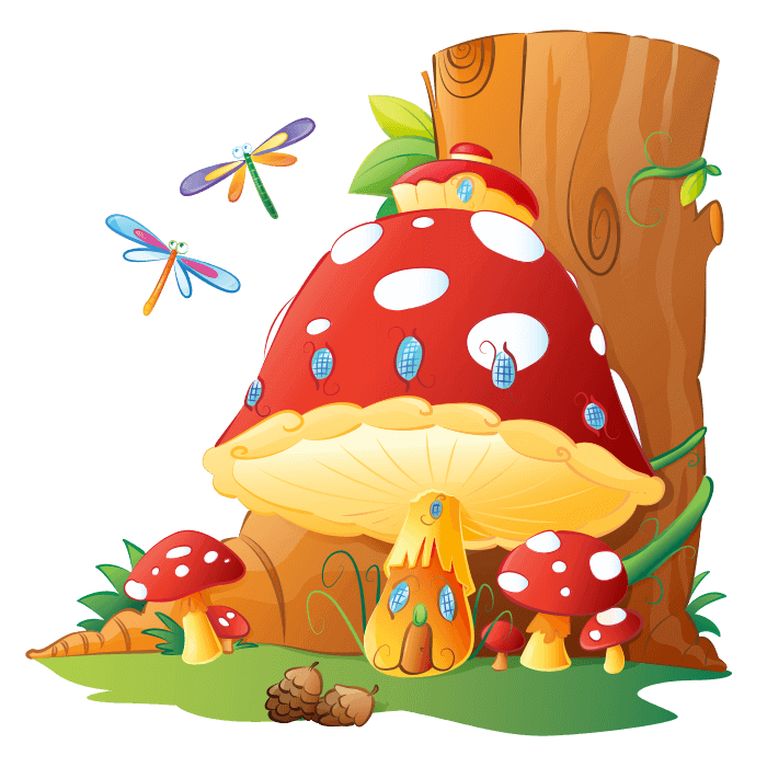 Fairies and Elves Wall Stickers for Kids Rooms, the Home of the Elves Sticker