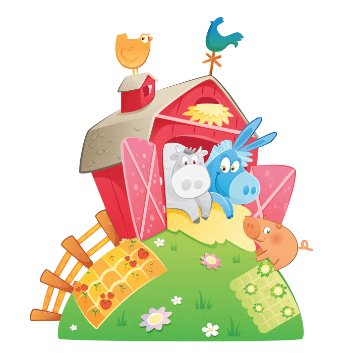 The Cheerful Farm Wall Decors for Children, the Farm Sticker