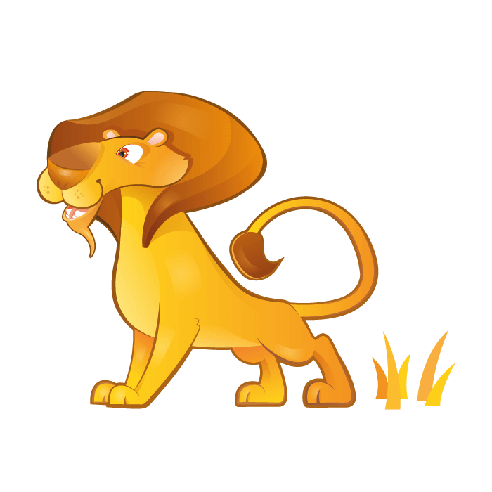 Safari Wallsticker for Kids, Lion Sticker