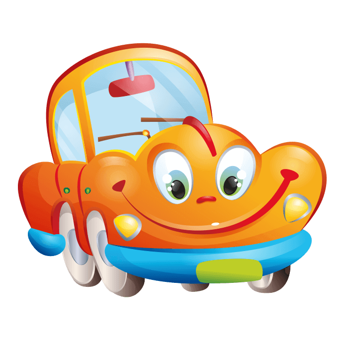 Behind the Wheel Wallstickers for Kids, Orange Car Sticker