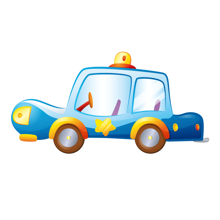 Behind the Wheel Wall Stickers for Children, Police Car Sticker