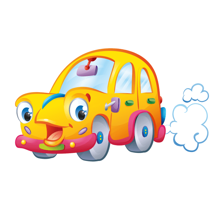 Behind the Wheel Wall Decors for Kids, Yellow car Sticker