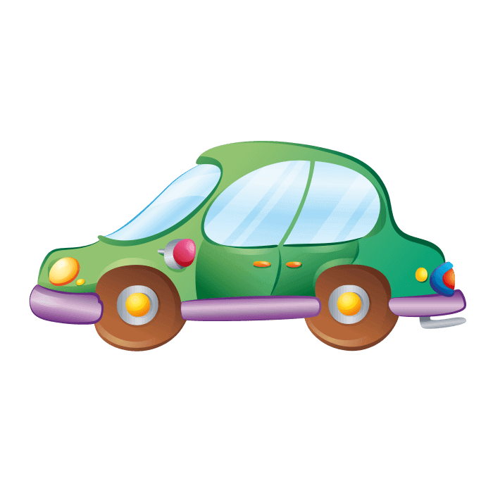 Behind the Wheel Wallstickers for Children, Green Car Sticker