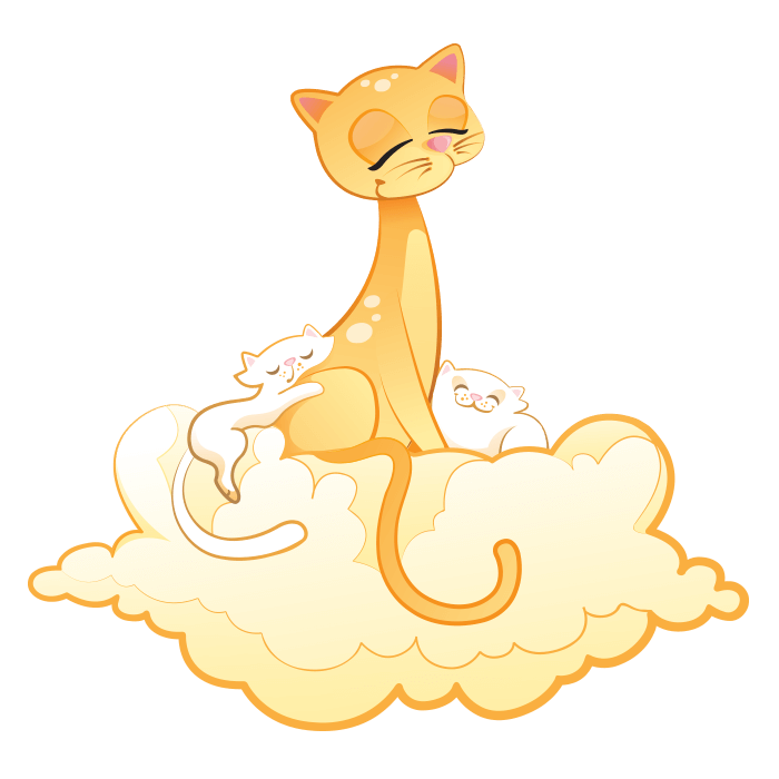 In the Clouds Wallstickers for Children, Mommy Cat Sticker