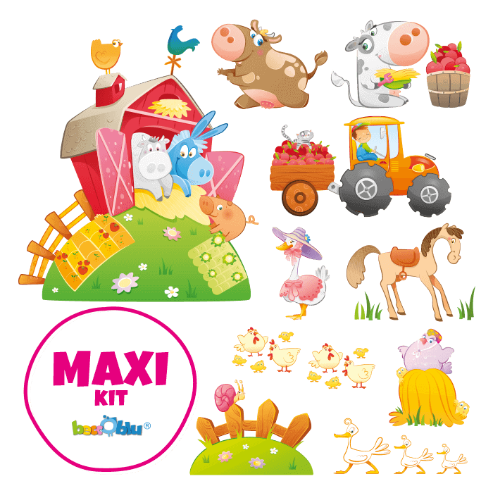 Wall Decals for Children Maxi Kit The Cheerful Farm