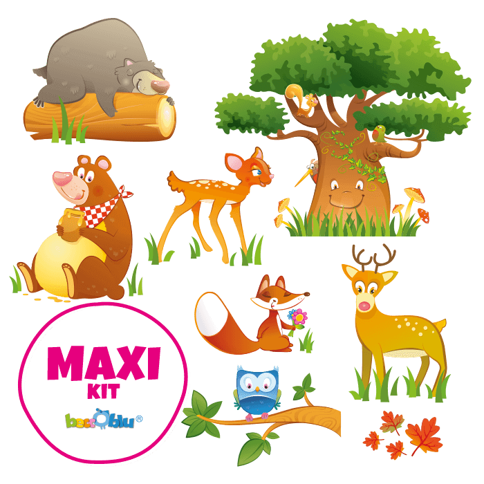 Wall Stickers for Kids Maxi Kit the Friends of the Wood