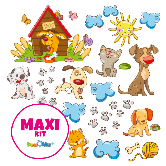 Wall Decors for Kids Maxi Kit Dogs & Cats