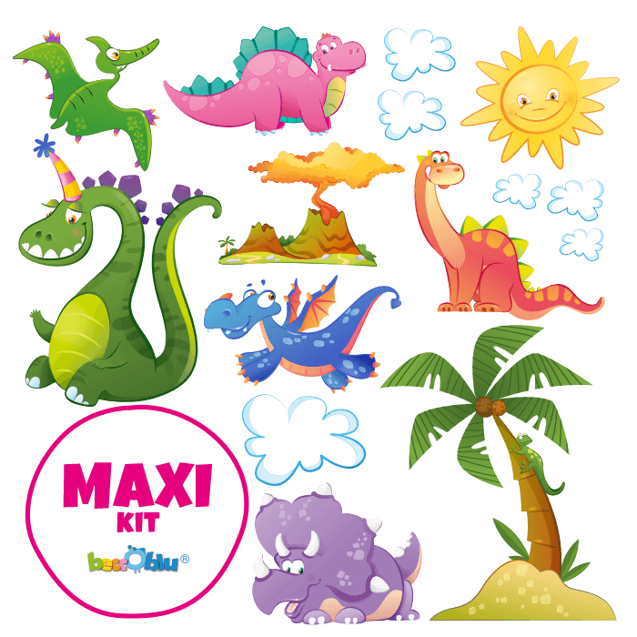 Wall Decals for Kids Maxi Kit Come the Dinosaurs