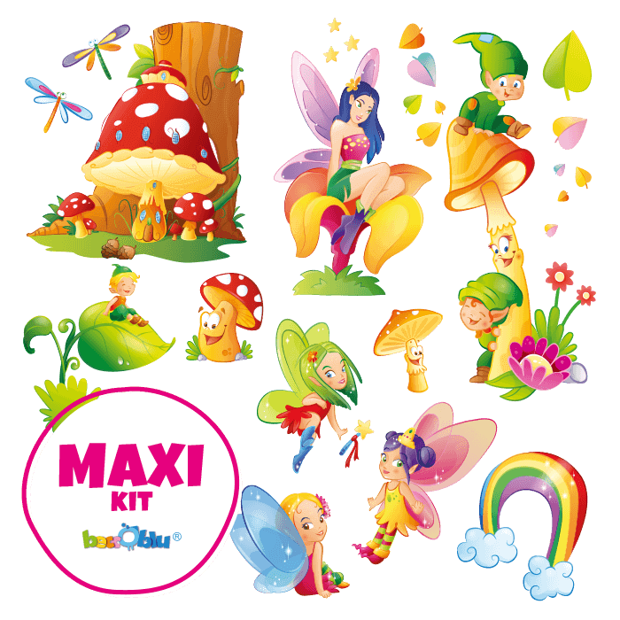 Wall Decors for Children Maxi Kit Fairies and Elves
