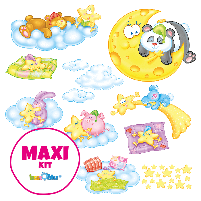 Wall stickers for Children Maxi Kit Sleepy Friends