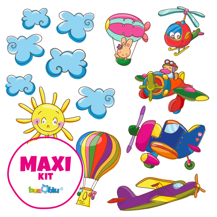 Wall Stickers for Kids Maxi Kit In Flight