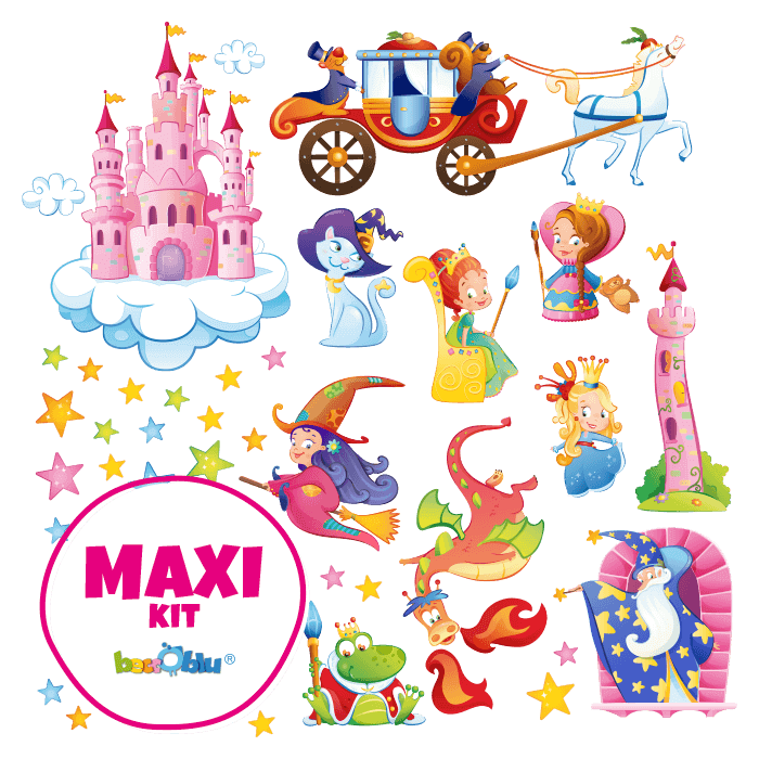 Wall Decors for Children Maxi Kit Wizards and Princesses