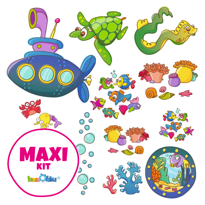 Wall Decors for Kids Maxi Kit Underwater World