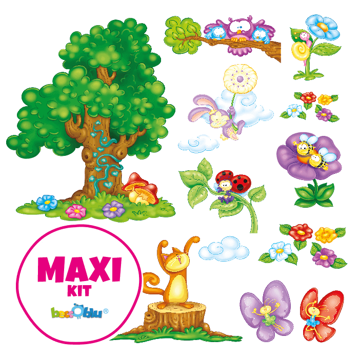 Wall Decors for Children Maxi Kit In the Meadow