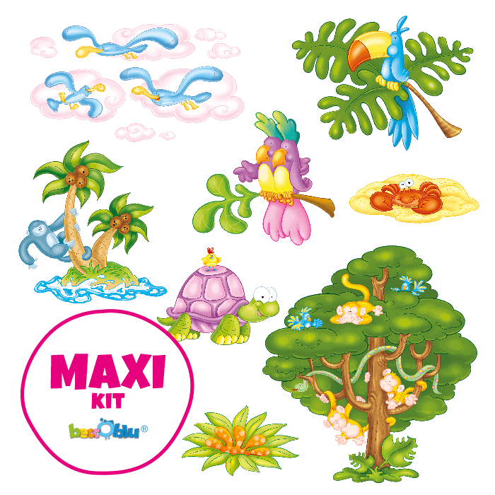 Wall stickers for Children Maxi Kit Wellcome to the Tropics