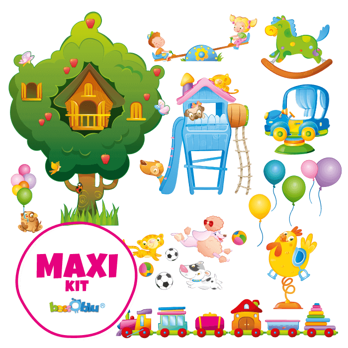 Wall Decors for Children Maxi Kit All at the Park