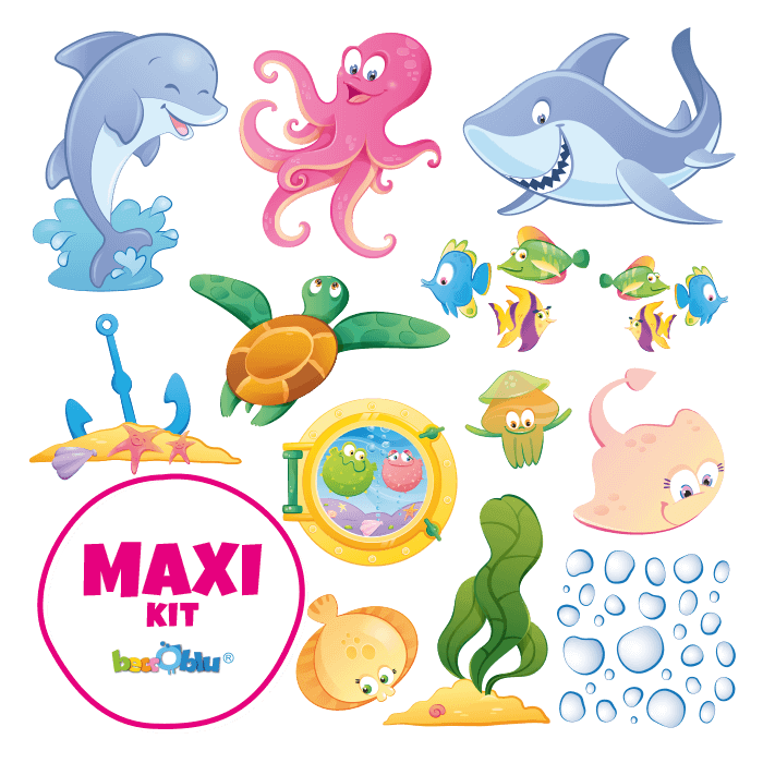 Wall Decors for Children Maxi Kit a Dip in the Sea