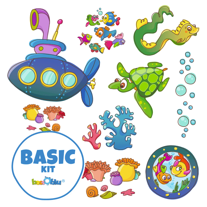 Wallstickers for Kids Basic Kit Underwater World