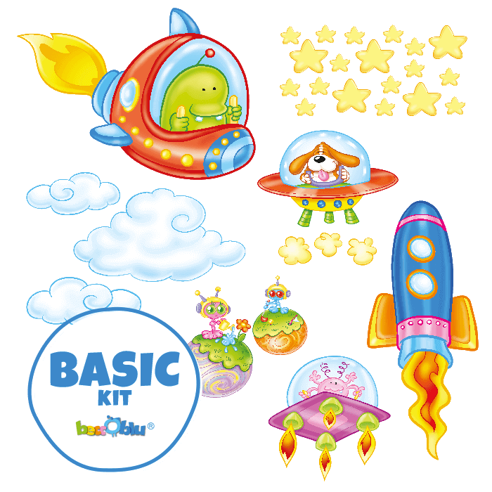 Wall Stickers For Kids Basic Kit In The Space