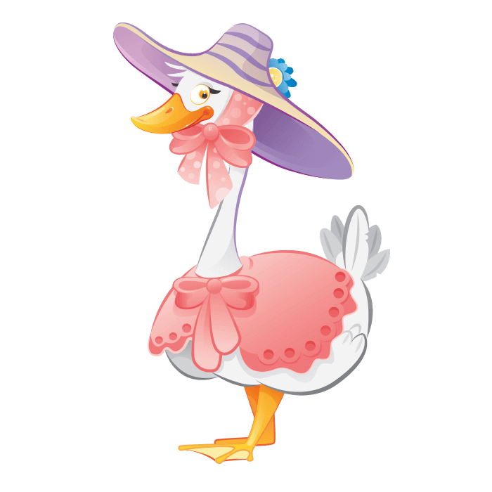 The Cheerful Farm Wall Decors for Children, Goose Sticker