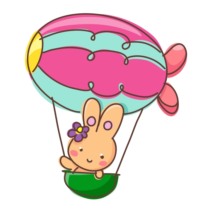 In Flight Wall Decals for Children, Flying Balloon Sticker