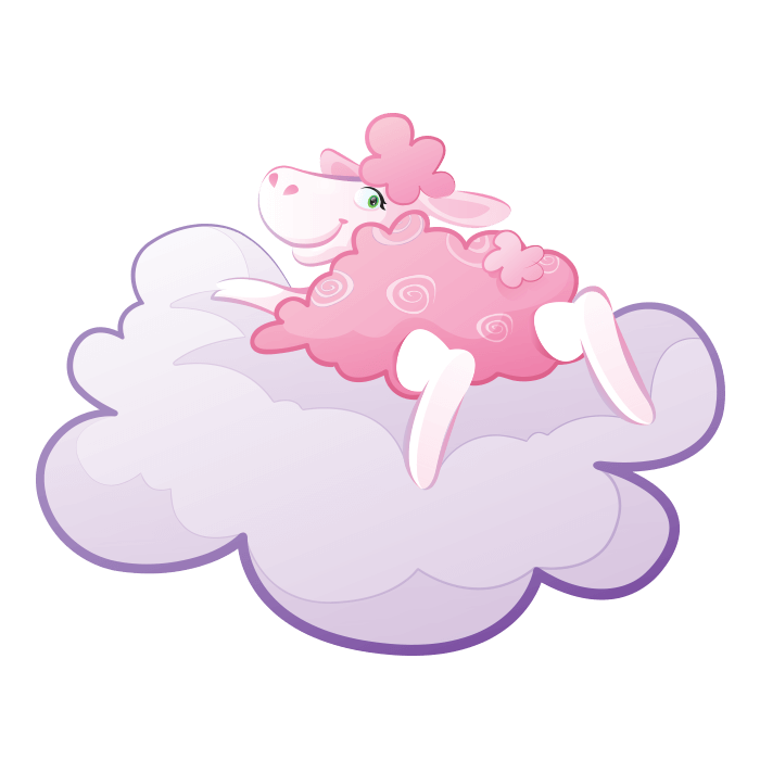 In the Clouds Wall Decors for Children, Sheep on Cloud Sticker