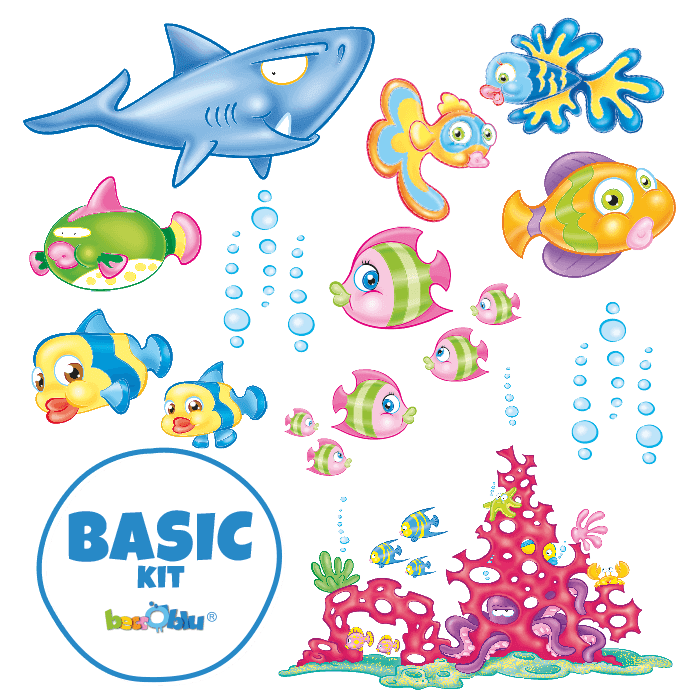 Wall Decals for Kids Basic Kit Tropical Fish