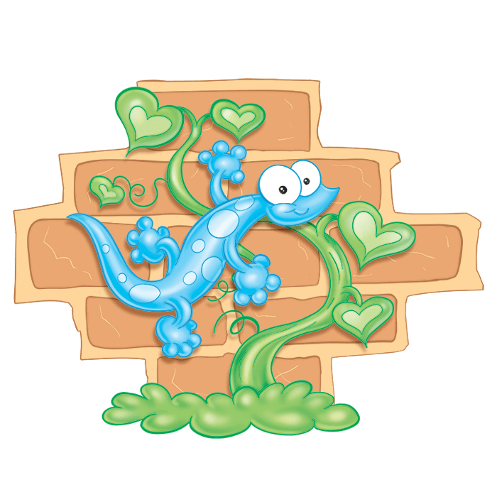 In the Meadow Wall Decals for Children, Small Gecko Sticker