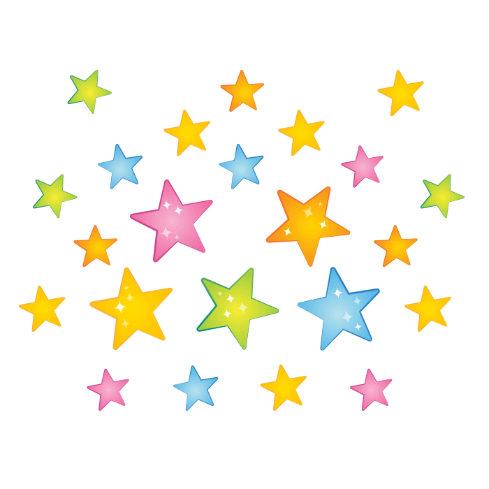 Moon and Stars Wallstickers for Children, Rain of Stars Sticker