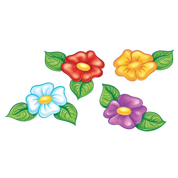 In the Meadow Wall Decors for Children, Four Flowers Sticker