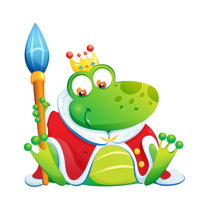 Wizards and Princesses Wall Decors for Children, King Frog Sticker