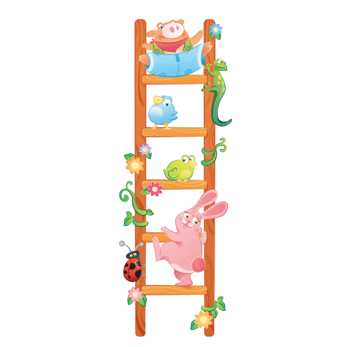 The Cheerful Farm Wall Decals for Kids, Fantasy Ladder Sticker
