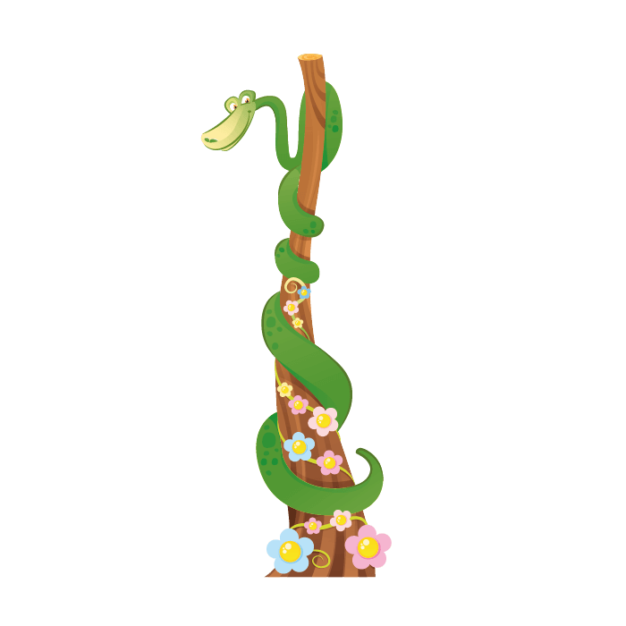 Jungle Wallstickers for Kids, Snake Sticker
