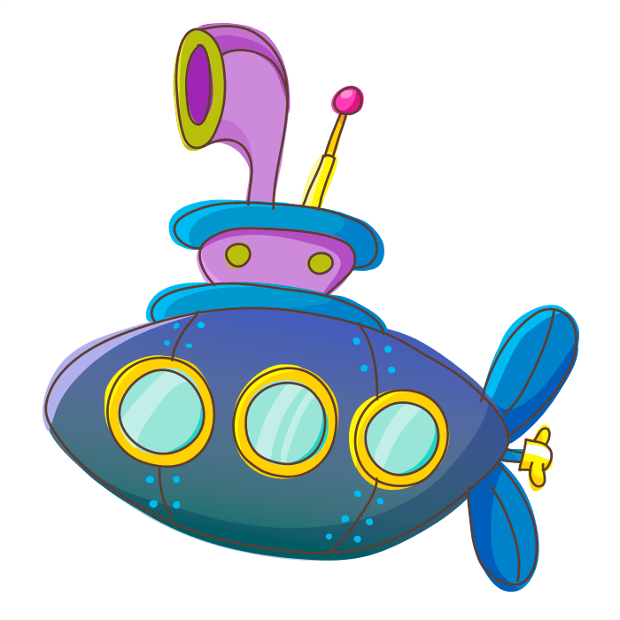 Underwater World Wallstickers for Children, Submarine Sticker
