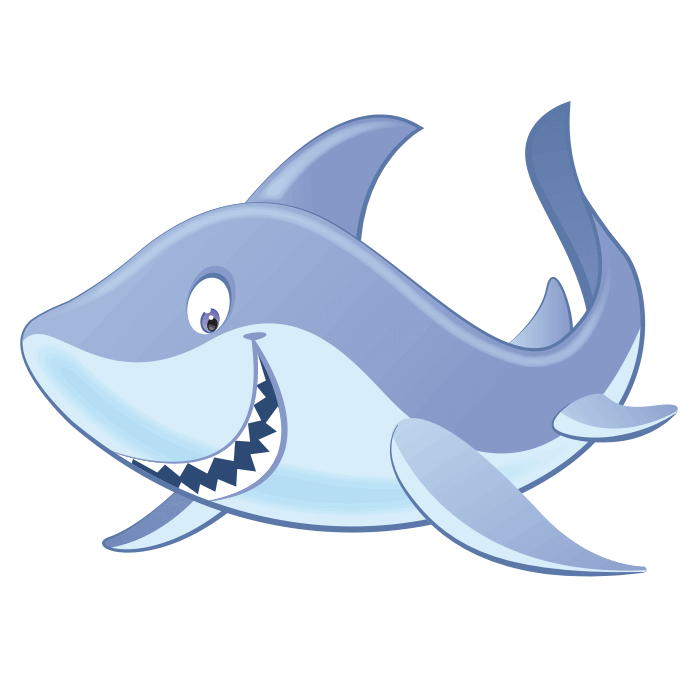 A Dip in the Sea Wall Decors for Kids, Small Shark Sticker