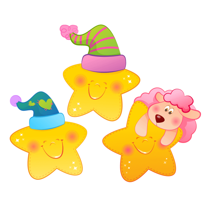 Moon and Stars Wall Decors for Children, Bedtime Starlets Sticker