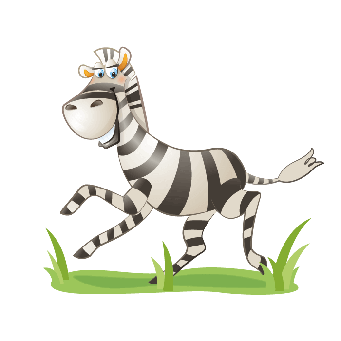 Safari Wall Decals for Kids, Zebra Wallticker